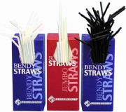 Black Drinking Straws - Flexi Straw Type (Box of 250)